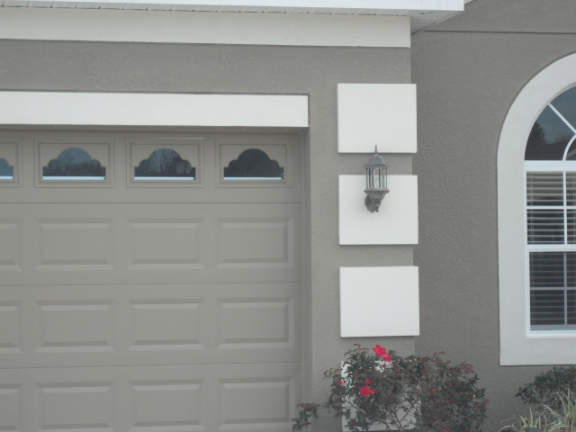 Faux Garage Window Trim
